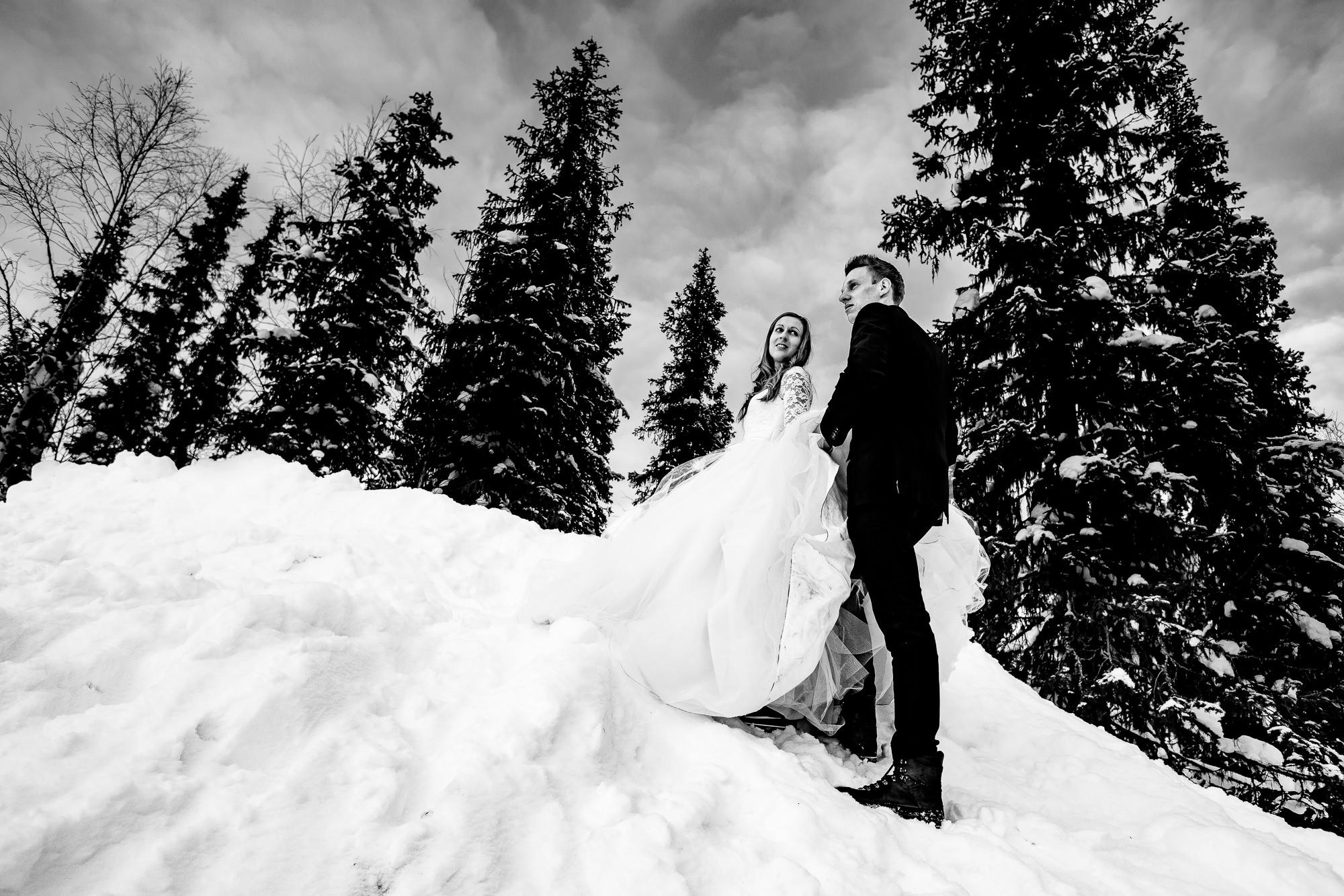 trouwen fotoshoot sneeuw lapland