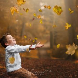 herfst blaadjes overlay kinderfotografie workshop-1