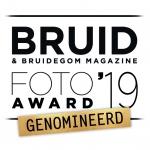 een logo van de bruidsfoto en film award 2019