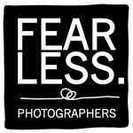logo van fearless photographers in zwart wit